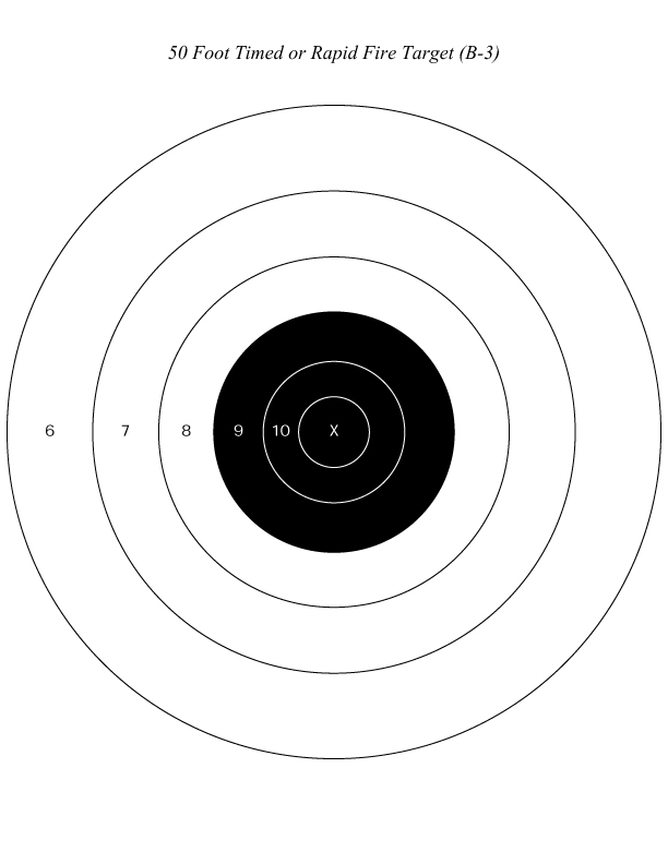 picture about Printable Nra Pistol Targets identified as Silver Town Gun Club Objectives