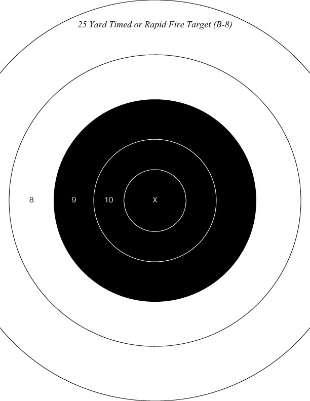 Ridiculous image in nra b-8 target printable